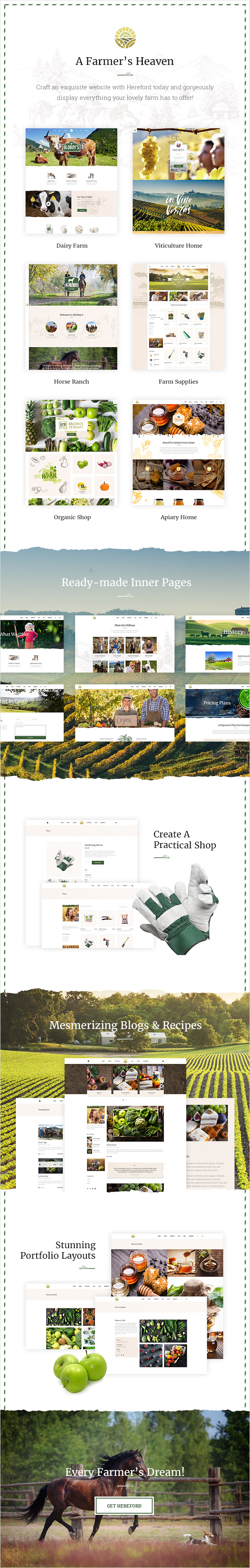 WordPress theme Hereford - An Agriculture and Organic Food Theme (Food)